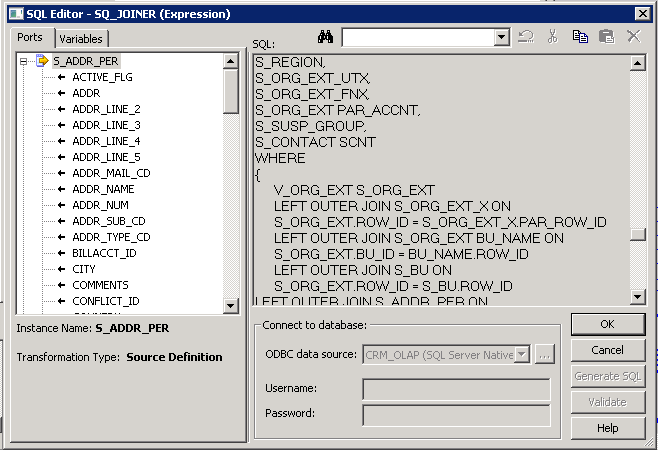 Informatica Best Practice: User Defined Join syntax in the Source