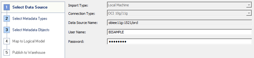 Blank schemas in BI Administration Tool when importing metadata