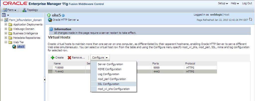 Secured Oracle HTTP Server: Configuring SSL - ClearPeaks