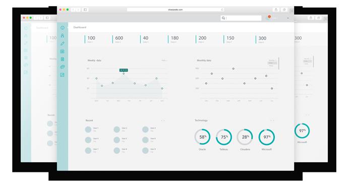 Clearpeaks Dashboard screens