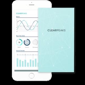 Dashboard de Clearpeaks en móvil