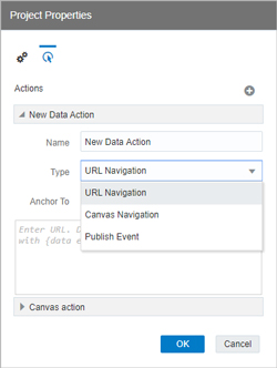 Data Actions – different options