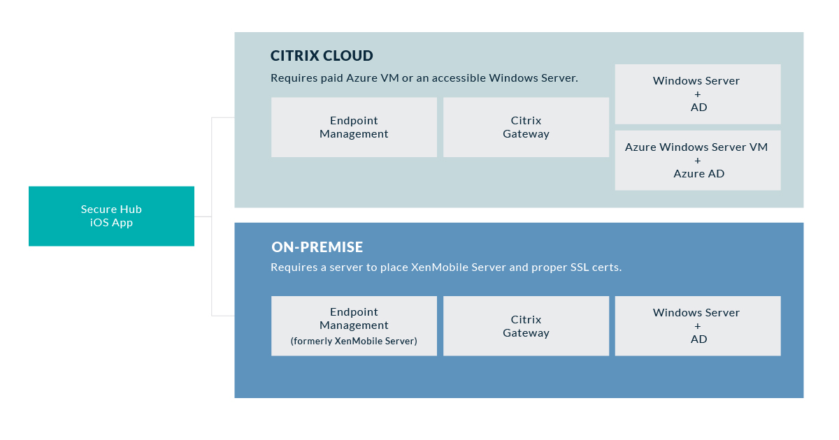 Two approaches for a Citrix MDM solution.